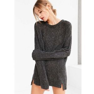 EUC BDG High/Low Cable Crew Neck Sweater XS